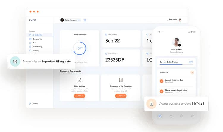 Incfile Online Dashboard
