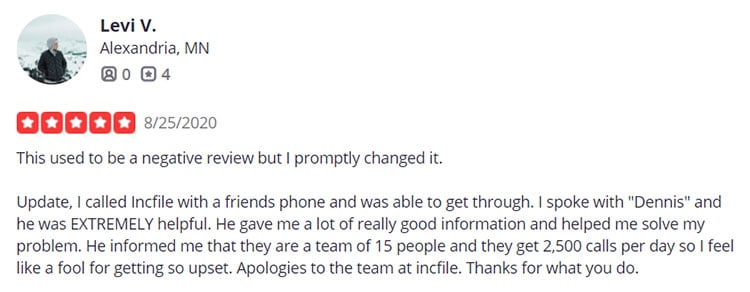 Incfile Yelp Review