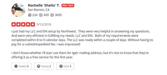 Northwest Registered Agent Same Day Filing Customer Review 3