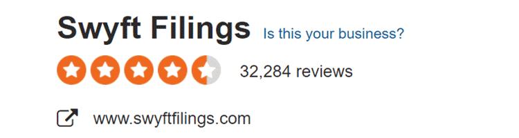 Swyft Filings Sitejabber review score