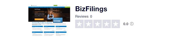 BizFilings Trustpilot Reviews
