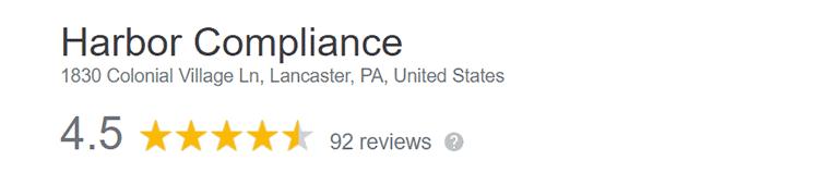 Harbor Compliance Google Reviews