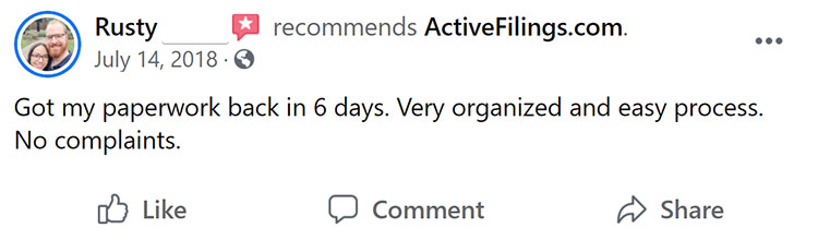Active Filings Facebook Review Three
