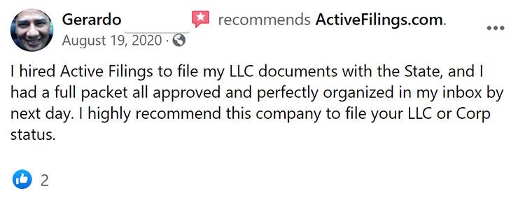 Active Filings Facebook Review