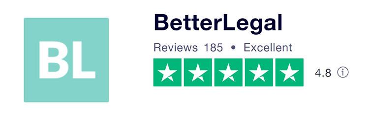 BetterLegal Trustpilot Rating
