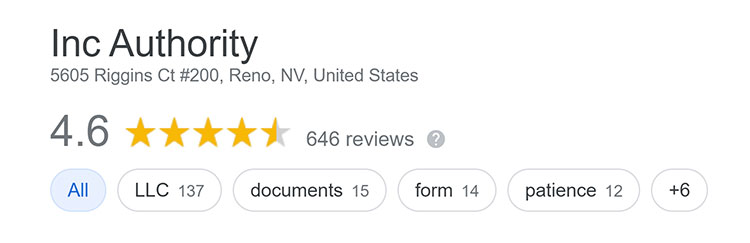 Inc Authority Google Reviews