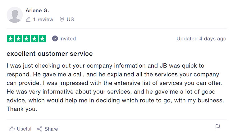 Inc Authority Trustpilot Customer Review