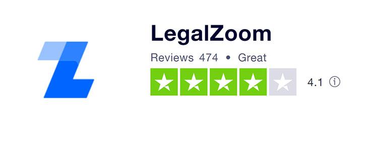 LegalZoom Trustpilot Rating