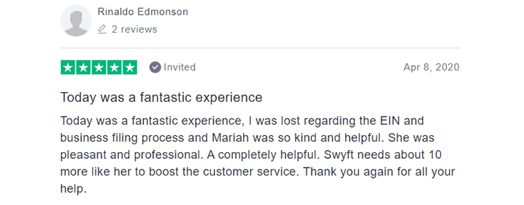Swyft Filings Customer Feedback 1